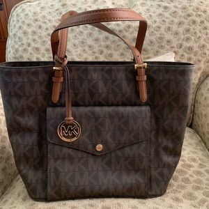 michael kors handbag jet set EUC